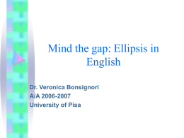 Mind the gap: Ellipsis in English