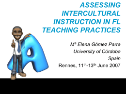 Assessing Intercultural Instruction in FL Teaching Practices