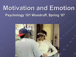 Motivation and Emotion - Southwest College