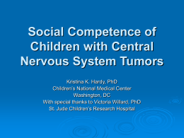 Social Competence of Children with Central Nervous …
