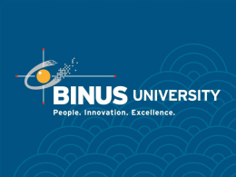 Cultural Concept - Binus University
