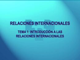 RELACIONES INTERNACIONALES LICENCIATURA DE …