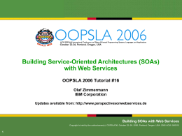 Building SOAs with Web Services