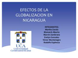 EFECTOS DE LA GLOBALIZACION EN NICARAGUA