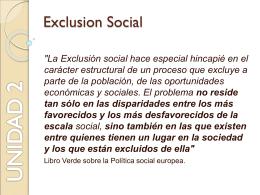 Exclusion Social - cmiatenea