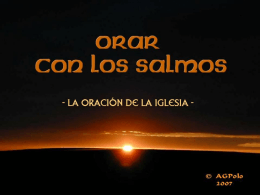 SALMO 3 - Liturgia de las Horas, Oficio Divino