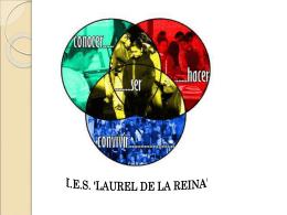 """EL I.E.S. """"LAUREL DE LA REINA"""" LA ZUBIA, GRANADA. …"""