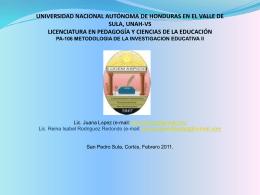 MARCO TEORICO DEFINICIONES - metodologiaunah