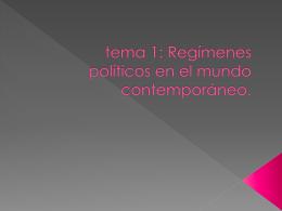 tema 1: Las formas de gobierno en la actualidad.