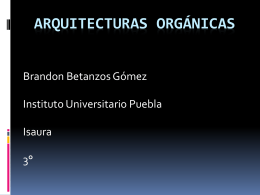 Arquitecturas organicas