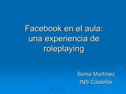 Facebook en el aula: una experiencia de roleplaying