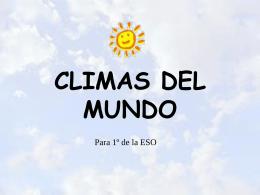 CLIMA Y SERES VIVOS
