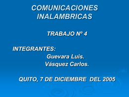 COMUNICACIONES INALAMBRICAS