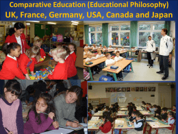 Comparative Education UK, France Germany and Japan