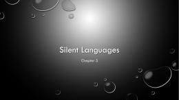 Silent Languages