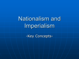 Nationalism and Imperialism