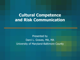 Health Policy Initiatives: Cultural Competence and