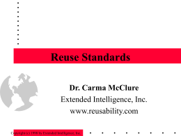 Reuse Standards - Boston Software Process Improvement
