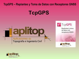 TCPGPS - Replanteo y Toma de Datos con GPS