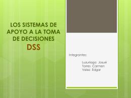 LOS SISTEMAS DE APOYO A LA TOMA DE DECISIONES-DSS