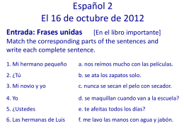 Spanish 1– 8/27 - Judson Independent School District