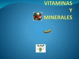 VITAMINAS Y MINERALES - quibios