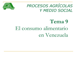 El sistema agroalimentario venezolano