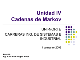 Tema 4: Cadenas de Markov