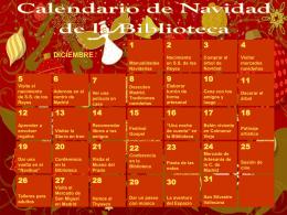 CALENDARIO DE NAVIDAD DE LA BIBLIOTECA