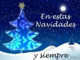 Feliz Navidad azul