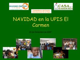 NAVIDAD en la UPIS El Carmen