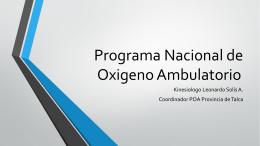 Programa Nacional de Oxigeno Ambulatorio
