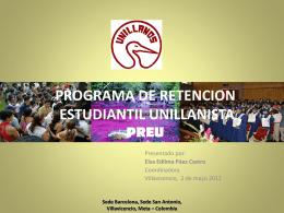 PROGRAMA DE RETENCION ESTUDIANTIL PREU
