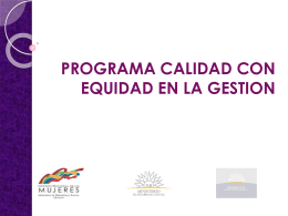 PROGRAMA CALIDAD CON EQUIDAD - OSE