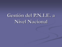 PROGRAMA NACIONAL DE INCLUSION EDUCATIVA