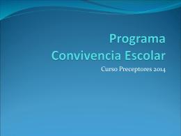 Programa Convivencia Escolar
