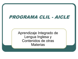 PROGRAMA CLIL O AICLE