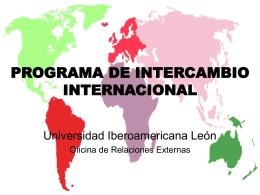 PROGRAMA DE INTERCAMBIO INTERNACIONAL