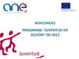 Programa Comunitario 'JUVENTUD EN ACCION'