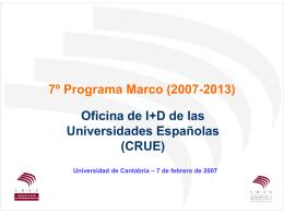 VII Programa Marco 2007-2013
