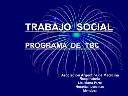 TRABAJO SOCIAL PROGRAMA DE TBC