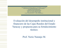 PROGRAMA DE INVESTIGACION DESARROLLO