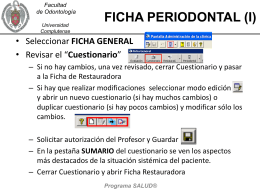 ACCESO Y SALIDA DEL PROGRAMA SALUD&#174
