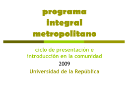 programa integral metropolitano