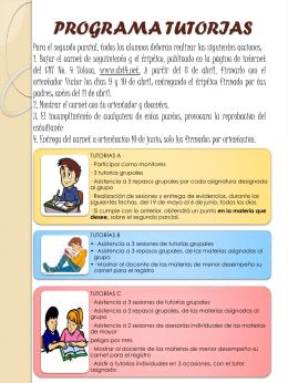 PROGRAMA TUTORIAS - CBT No. 4, TOLUCA