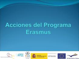Acciones del Programa Erasmus