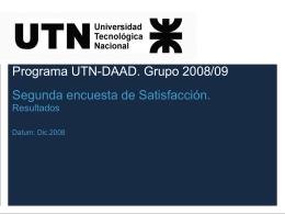 Programa UTN-DAAD. Grupo 2008/09