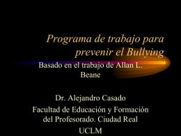 Programa de trabajo para prevenir el Bullying