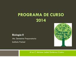 PROGRAMA DE CURSO 2014