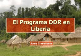 El programa DDR en Liberia